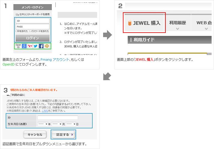 JEWELの購入と認証確認
