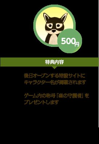 500円 特典内容
