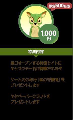 1,000円 特典内容
