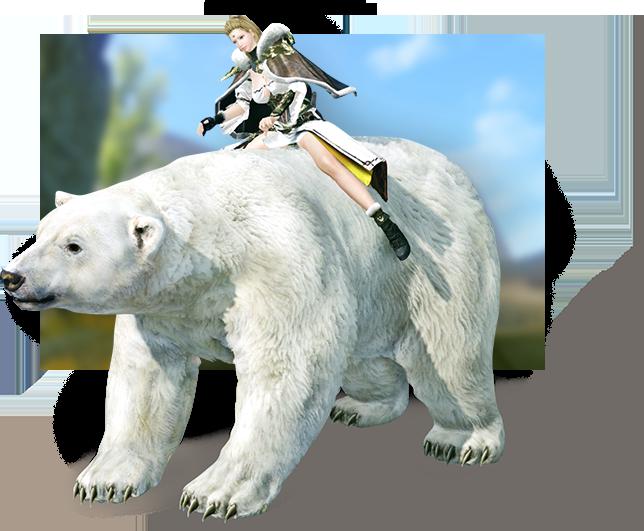 騎乗ペット「迅速のシロクマ」