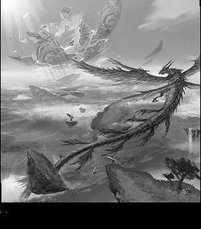 古くから神聖視され、崇められてきた「リーウー」、空高く舞う姿は、鳥のようにも龍のようにも見える。