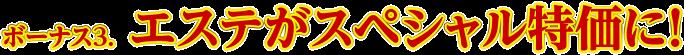 ボーナス3.  エステがスペシャル特価に!