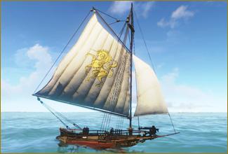 図面:ハープーン高速艇