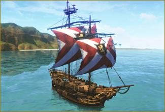 図面:エズナ小型帆船