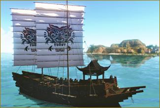 図面:リュート小型帆船