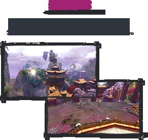 キャラクターが弱体化する沼地やグライダー飛行への攻撃などのトラップも。
