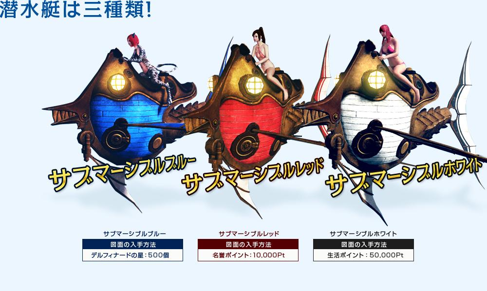 潜水艇は三種類!