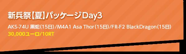 新兵祭【夏】パッケージ Day3
