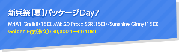 新兵祭【夏】パッケージ Day7