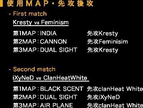 使用MAP・先攻後攻